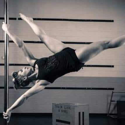 Jessica Pilch uses pole fitness to express herself