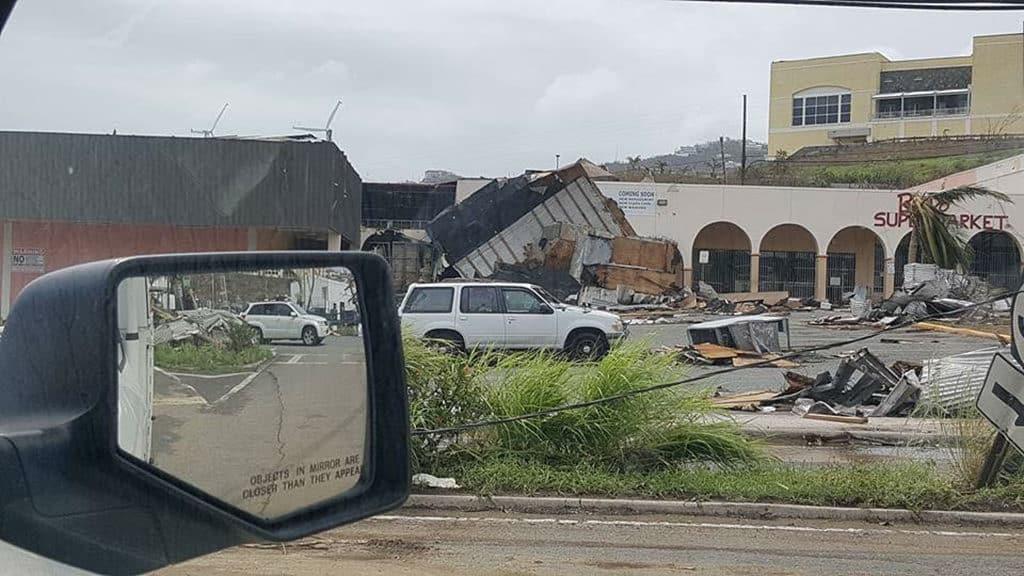 Aftermath of hurricane Irma