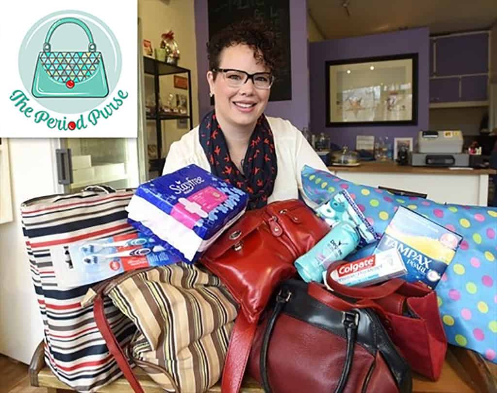 The Period Purse is an organization that donates menstrual products directly to shelters and the homeless in Ontario.