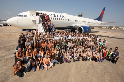Inspiring women from an all female Delta crew makes plans on closing gender gap for airline pilots.