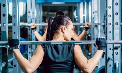 A woman at the gym doing physical activity