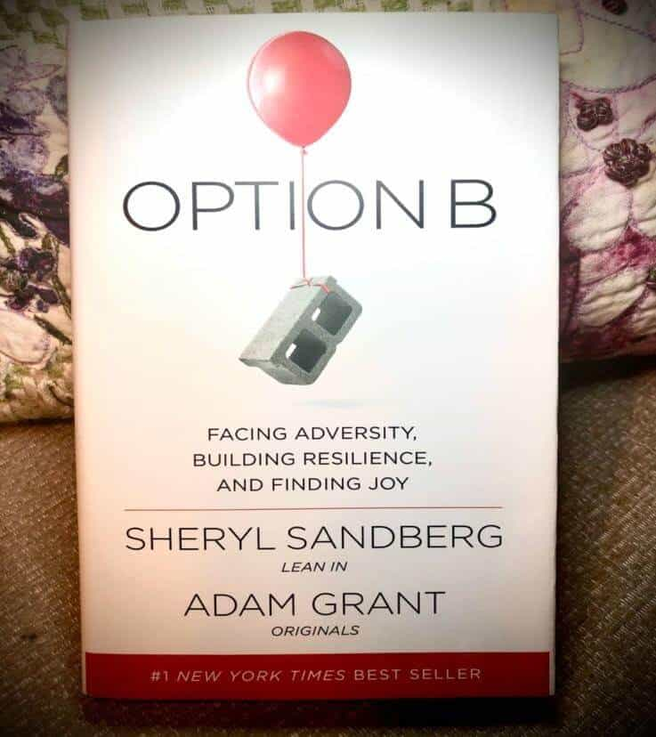 The front cover of Option B with an image of a cinder-block with a red balloon tied around it