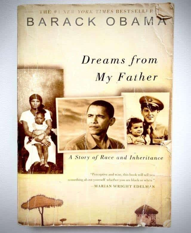 "The front cover of ""Dreams from My Father"""
