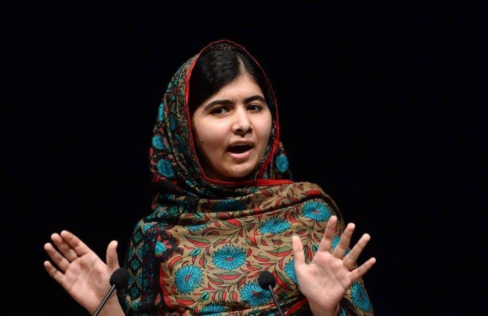 Malala Yousafzai giving her acceptance speech for the 2014 Noble Peace Prize.