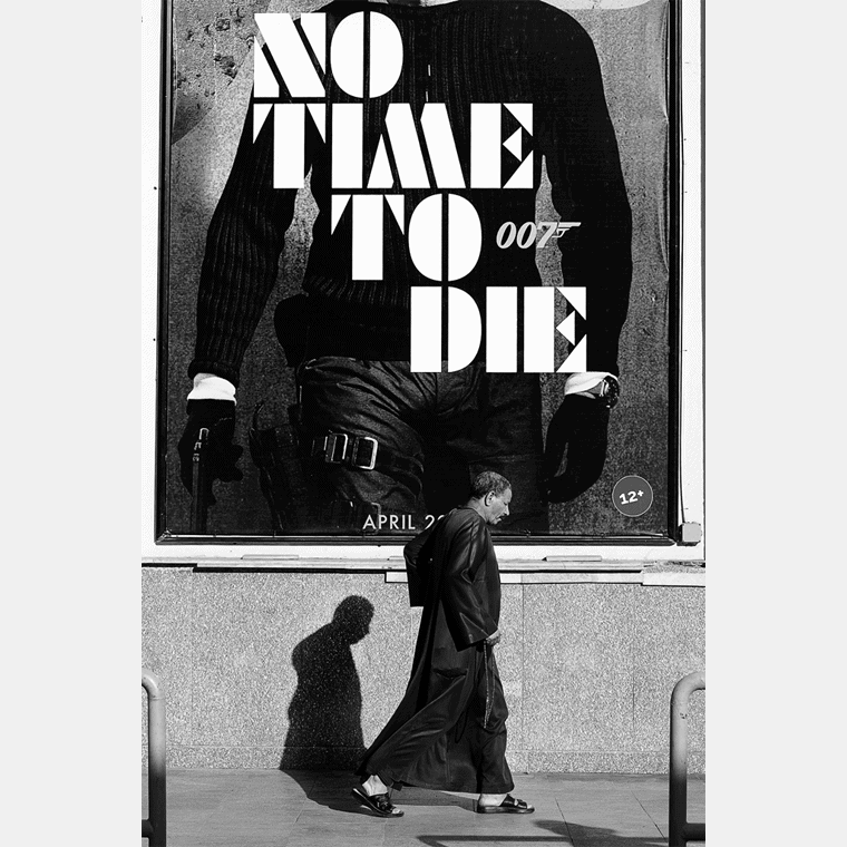 The movie cover to 'No Time To Die.'