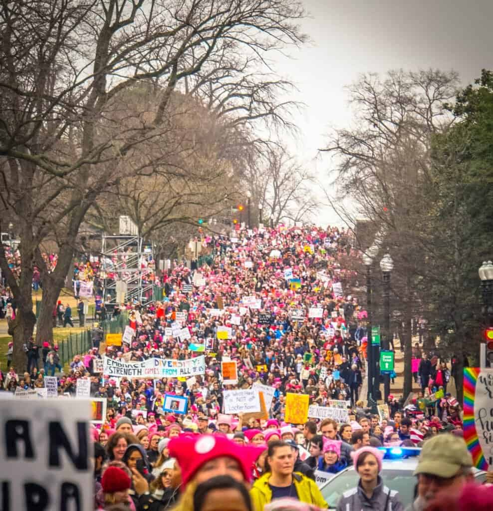 A march for diversity in Washington.