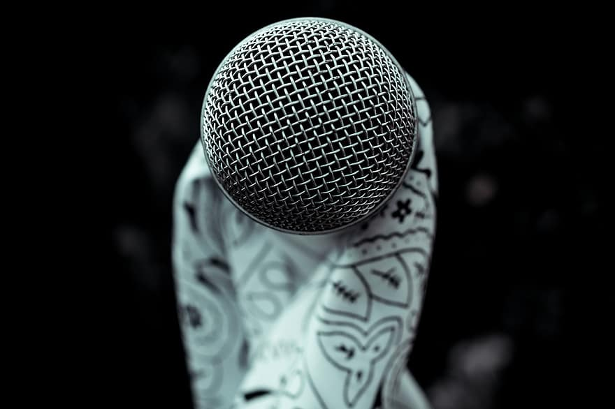 A closeup of a microphone.