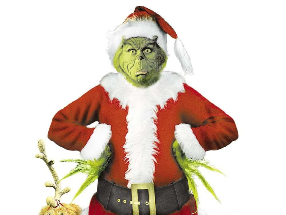 The Grinch in a Santa Claus suit, who hates the holiday stress