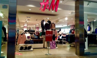 H&M clothing store entrance