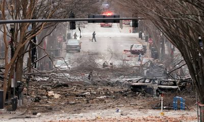The site of the explosion in Nashville.