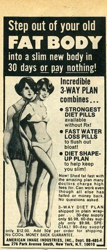 An old newspaper clipping on how to lose weight in 30 days.