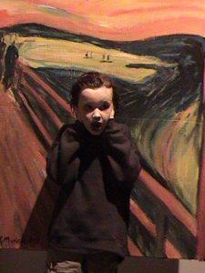 A child mimicking