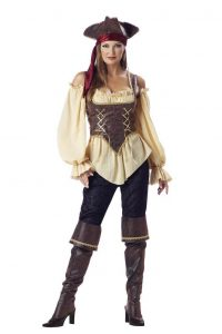 A women dressed as a pirate.