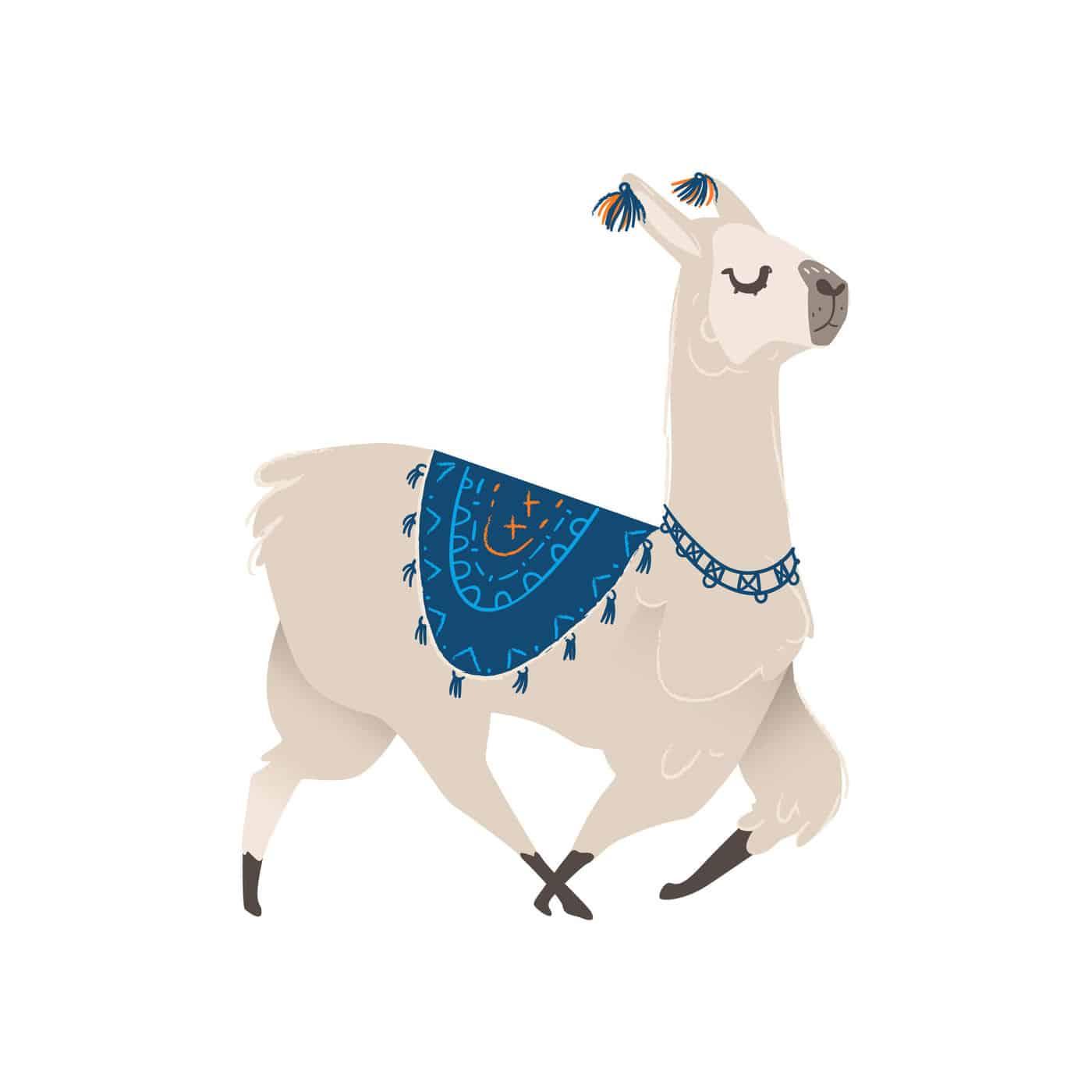 Cartoon Llama