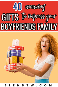 Pin for 40 amazing gifts to impress your boyfriends family.