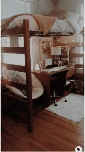 loft bed dorm room
