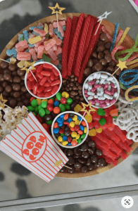 a big bowl with different kind of candies