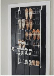 Overdoor shoes organizer