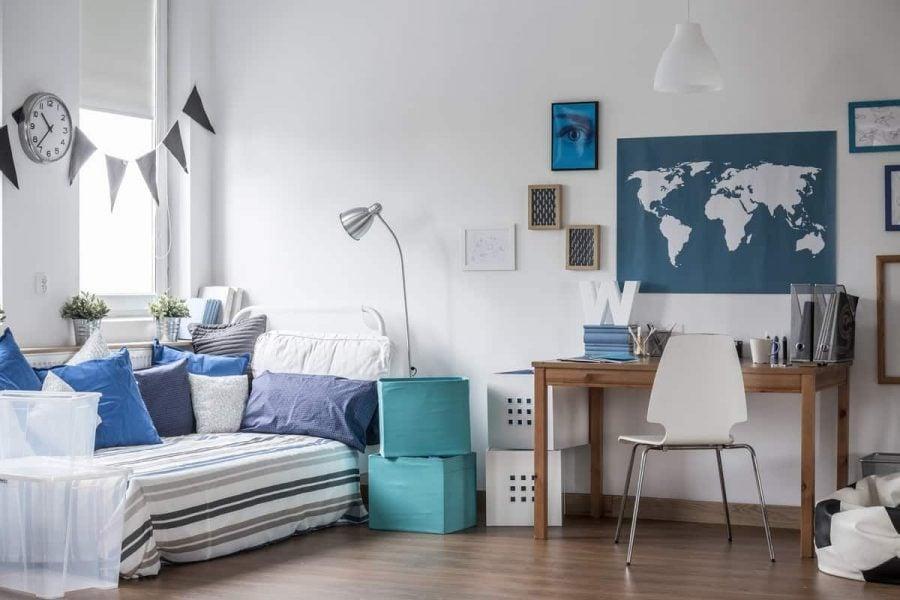 College Guy Dorm Room