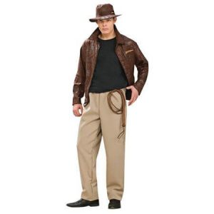 A man dressed as Indiana Jones.