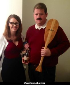 Man dressed as Ron Swanson.
