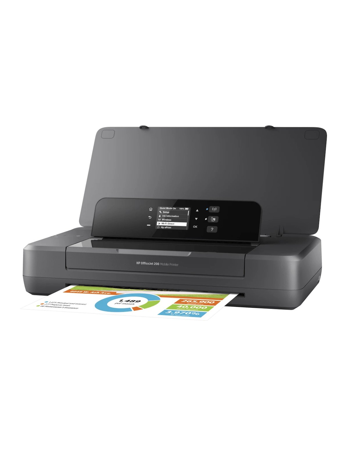 HP Officejet 200 Portable Wireless Color Printer - Office Depot