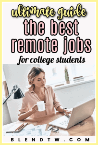 remote jobs for college students pin