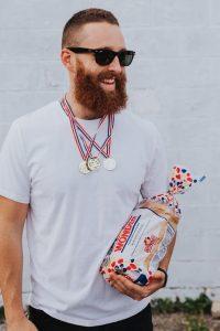 A man dressed as a breadwinner.