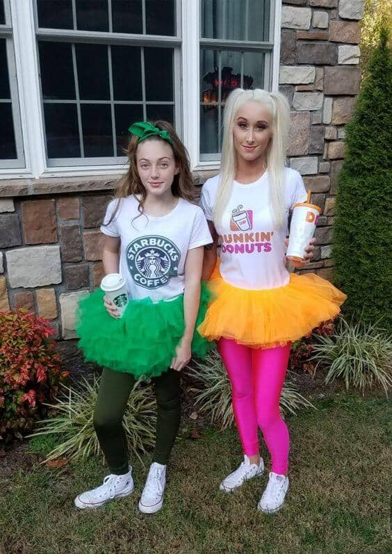 Starbucks and Dunkin Donuts.
