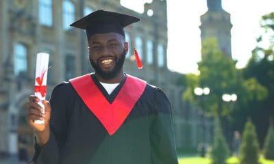 Guy college student graduating