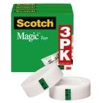 Scotch® Magic™ Invisible Tape, 1/2
