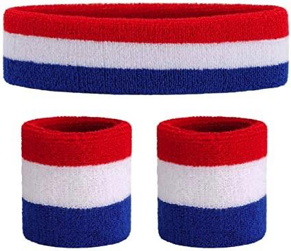 Amazon.com : ONUPGO Sweatband Set Premium Sports Headband Wristband Set Sweatbands Terry Cloth Wristband Wrist Sweatband Headbands Moisture Wicking Sweat Absorbing Head Band : Clothing