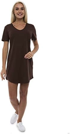 ABAKUHAUS Women's Casual Dress Loose Fit V-Neck Nightgown: Amazon.co.uk: Clothing