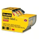 Scotch® 665 Permanent Double-Sided Tape, 1/2