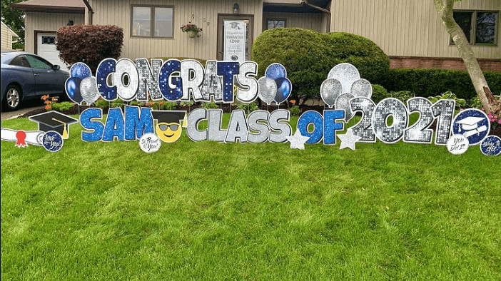 Class of 2021 Decors in a Lawn