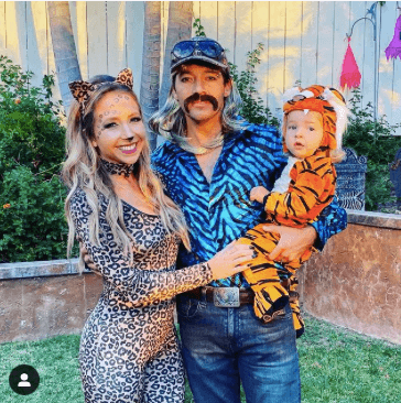A family in Joe exotic inspired outfits