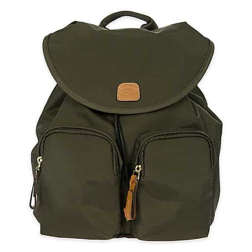 Bric's X-Travel 10.5-Inch City Backpack in Olive