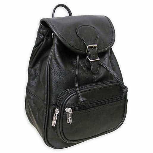Amerileather Ladies' Leather Backpack in Black