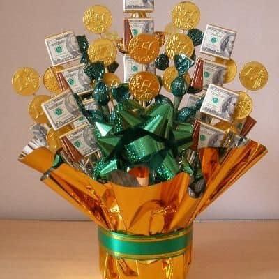 A money bouquet
