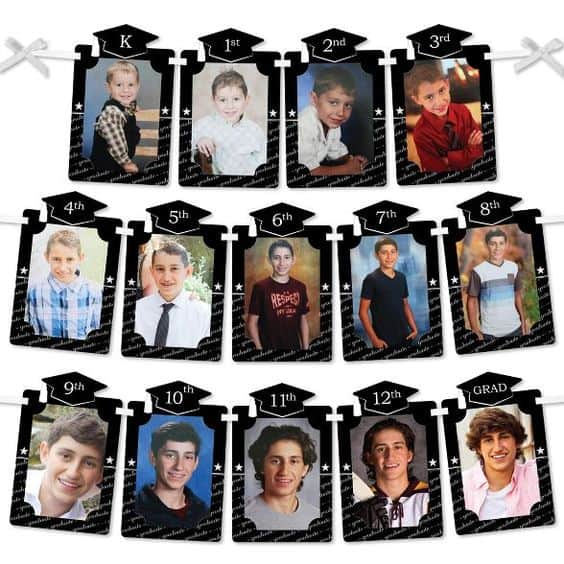 A photo banner with pictures of kids