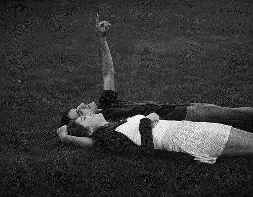 A couple stargazing