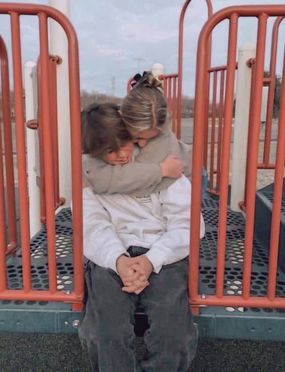 A couple at the playground