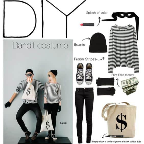DIY bandit costume ideas