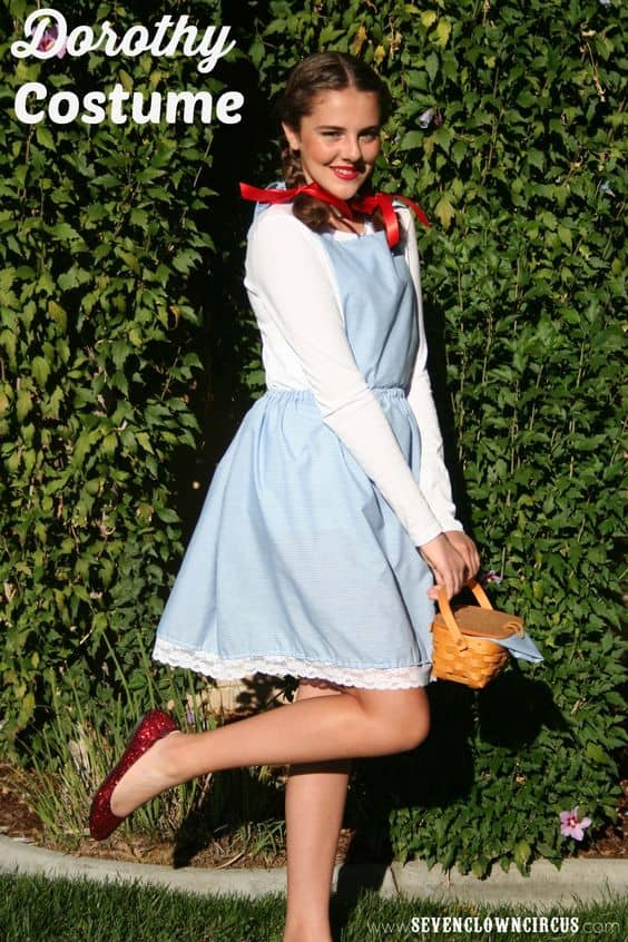 A girl in a Dorothy costume
