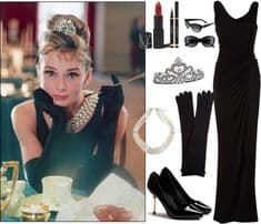 Breakfast at Tiffany's outfit materials