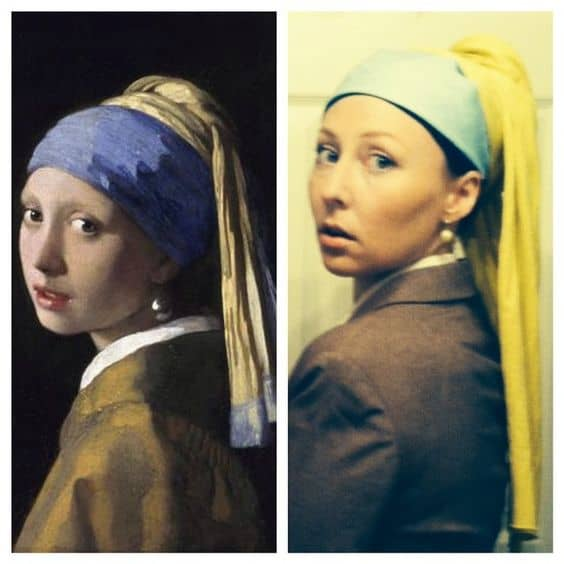 Girl with pearl earring costume