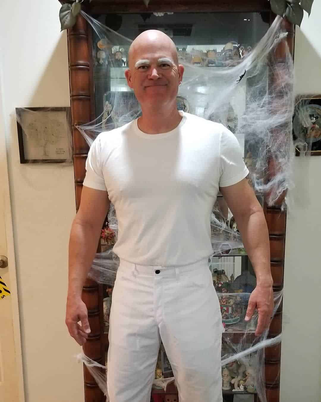 A guy dressed as Mr. Clean
