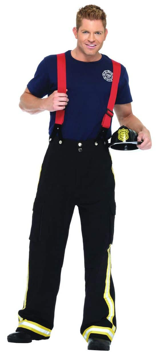 A guy in a Fire fighter outfit