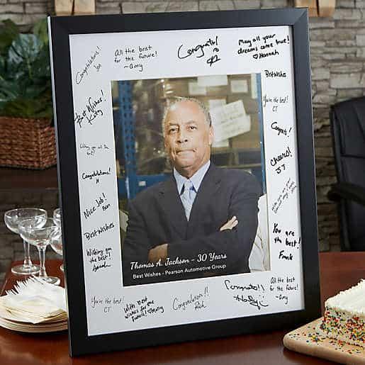 Retirement Signature Photo Frame