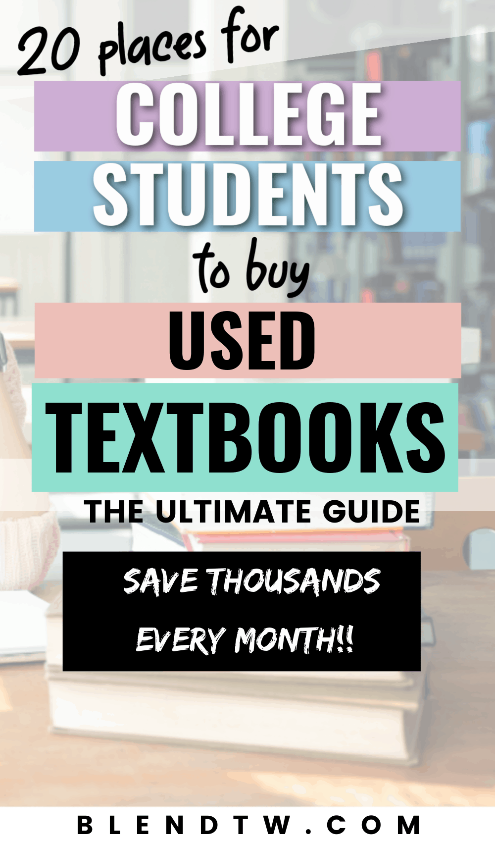 20 places for college students to buy used textbooks